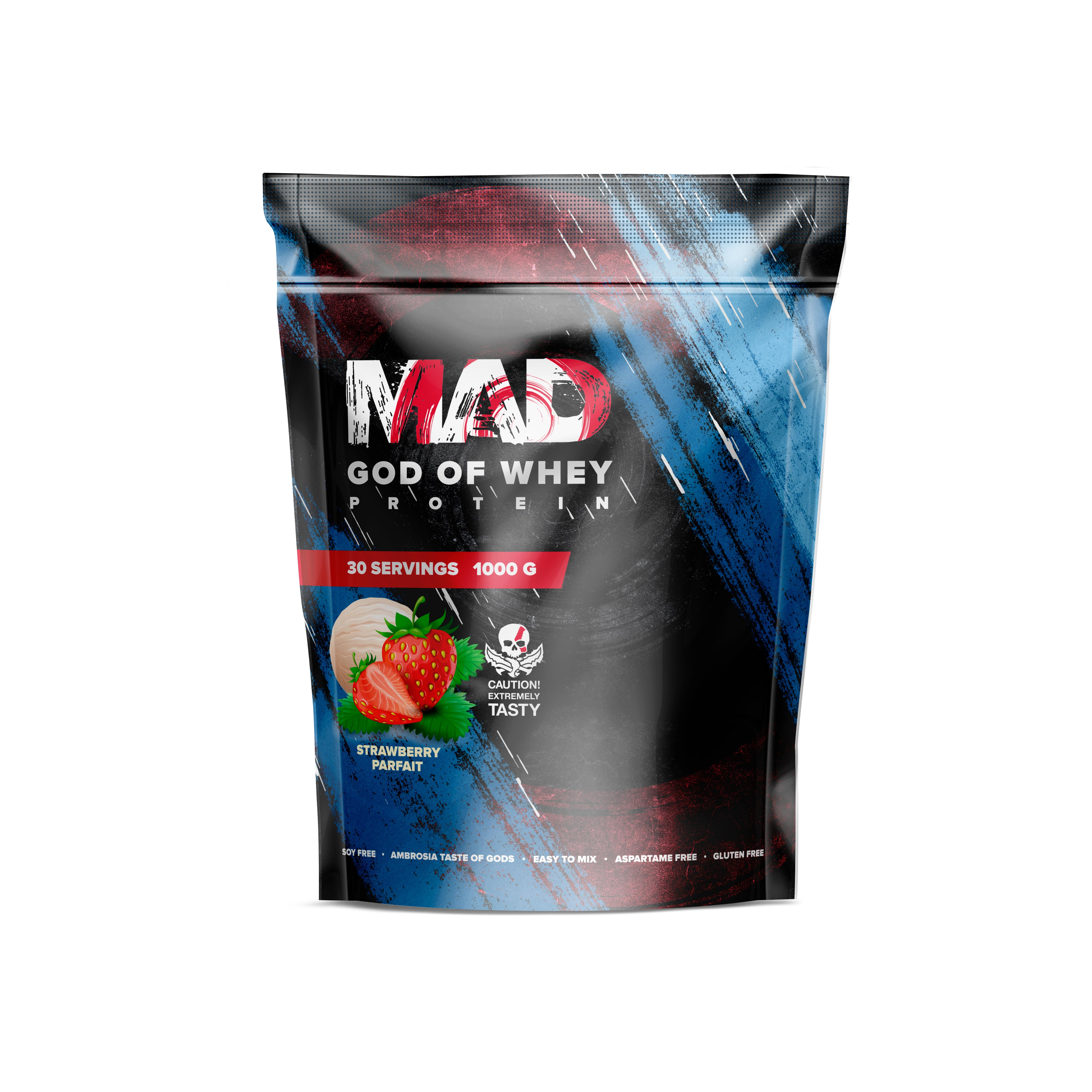 GOD OF WHEY 1000g/30serv Strawberry (Пакет)