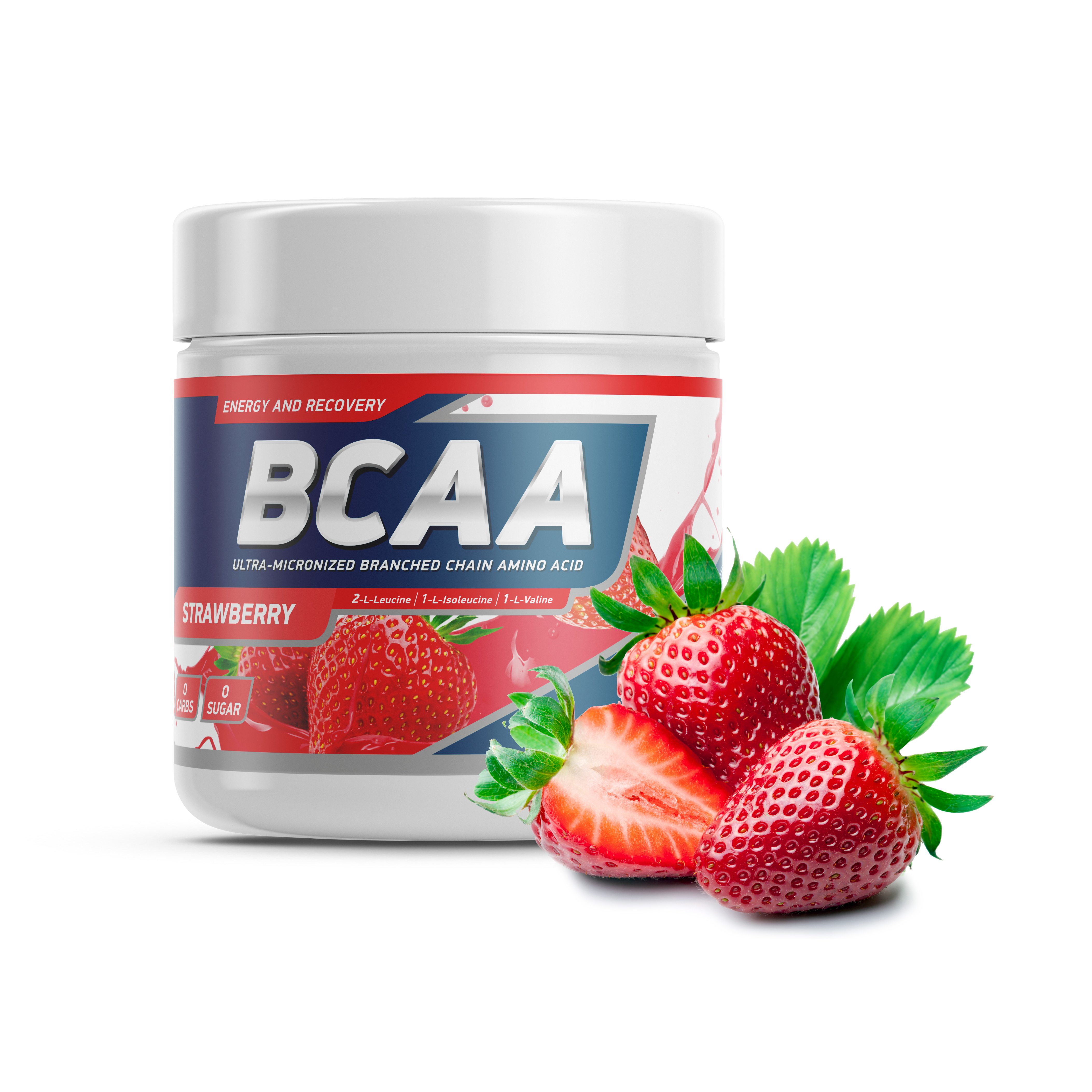 Geneticlab BCAA 2:1:1 250gr/50serv Strawberry (Клубника)