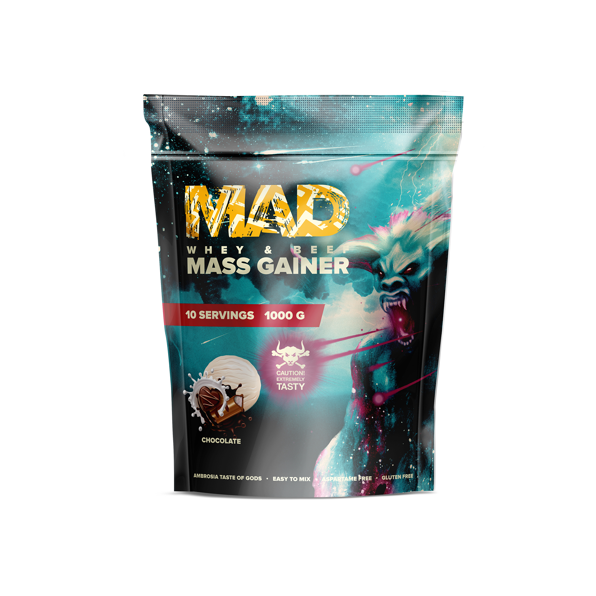 MAD WHEY & BEEF MASS GAINER 1000g/10serv Шоколад