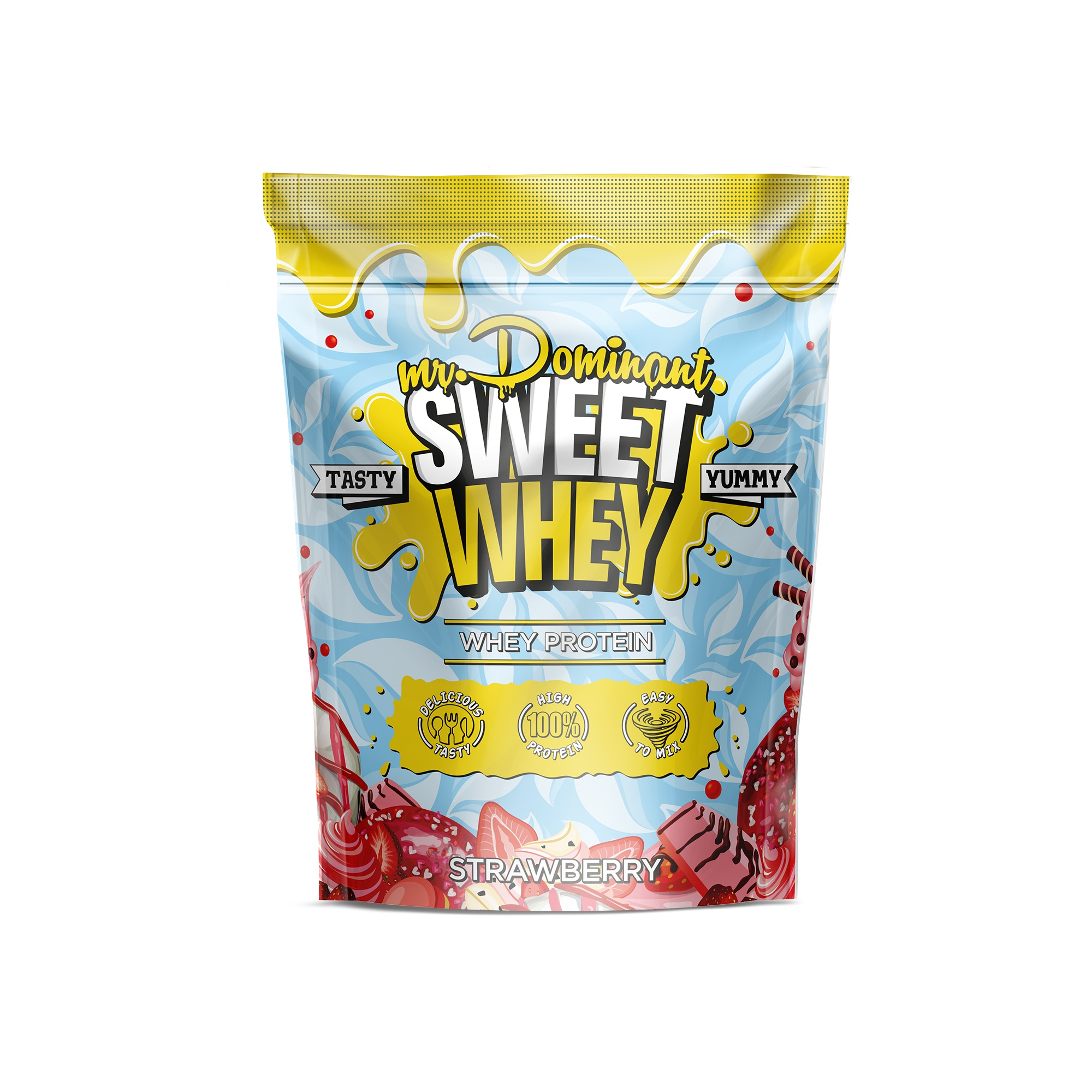 mr.Dominant SWEET WHEY 900gr/30serv клубника