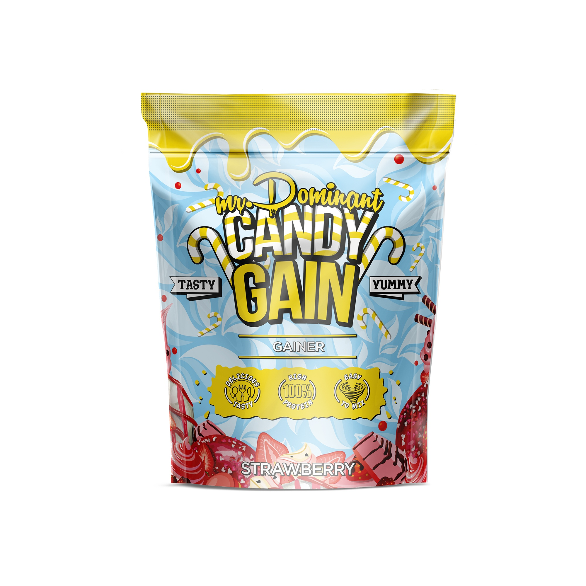 mr.Dominant CANDY GAIN 1000gr/10serv клубника